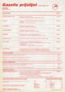 Gazelle AA-Special prijslijst Seite 1