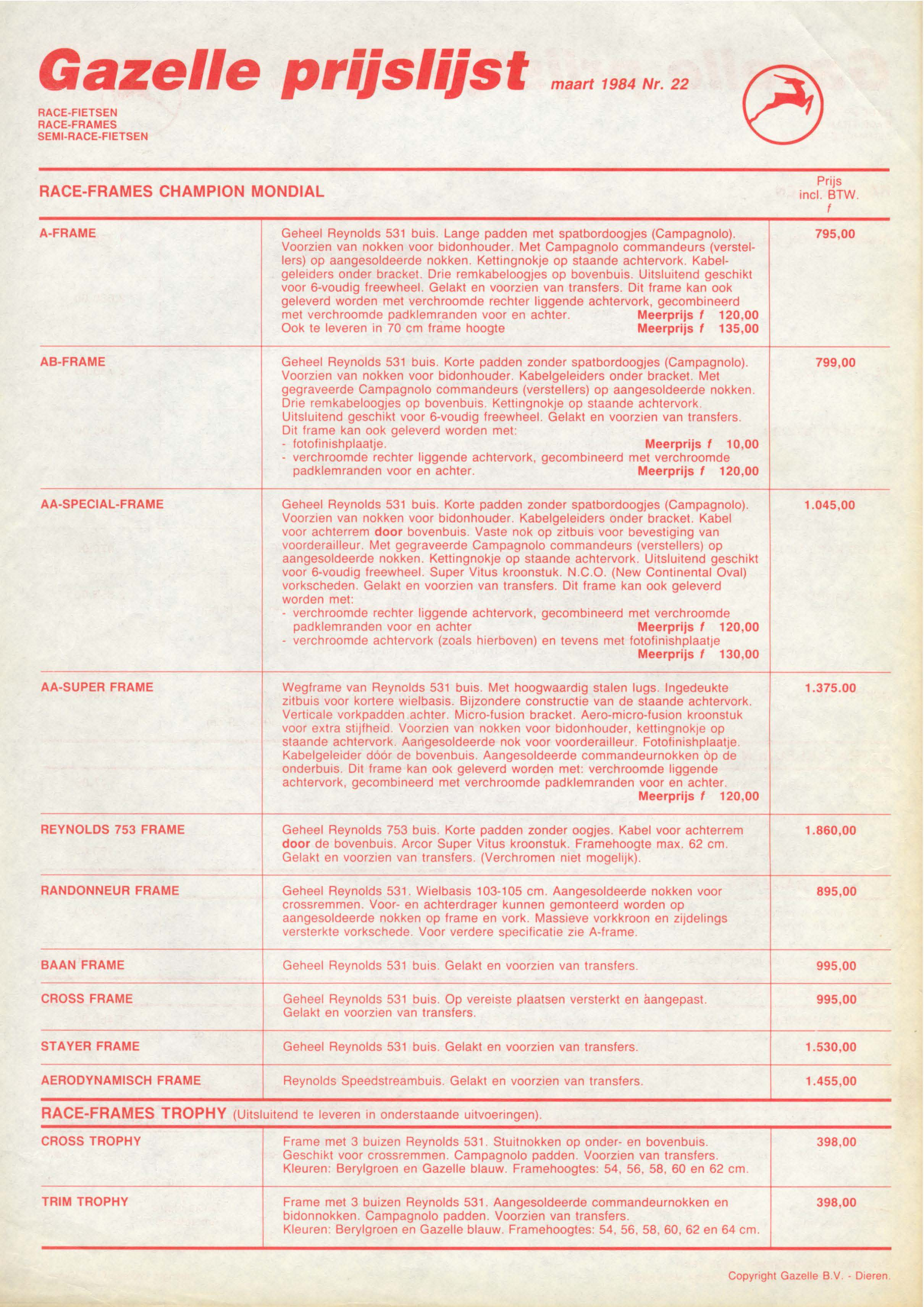 Preisliste-Gazelle-1984-1